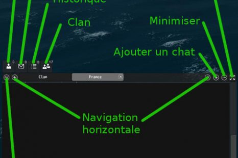 Guide officiel Naval Action – Raccourcis clavier et chat